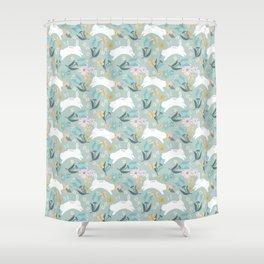Hoppy Spring! Shower Curtain