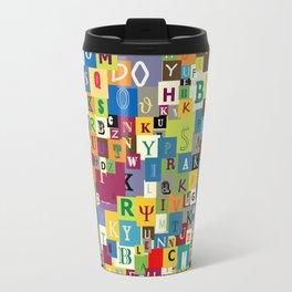 Alphabet Travel Mug