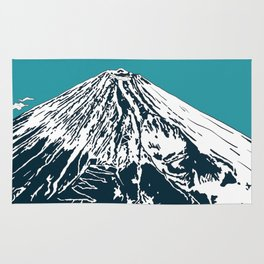 Mount Fuji from the Sky Rug