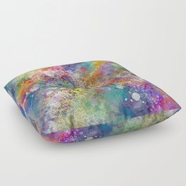 PAINT STAINED ABSTRACT Floor Pillow