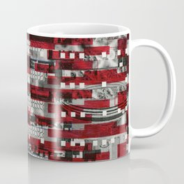 Nothing Is Accomplished (P/D3 Glitch Collage Studies) Coffee Mug