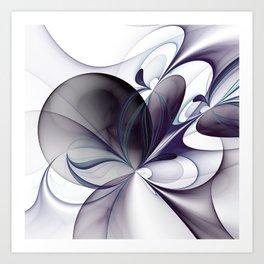 Easiness, Abstract Modern Fractal Art Art Print