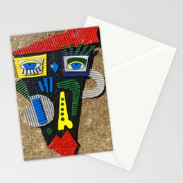 Abstract Picasso inspired face Stationery Cards