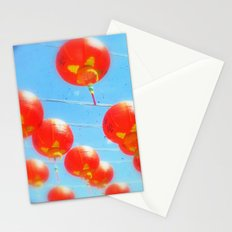 Red Lanterns Stationery Cards