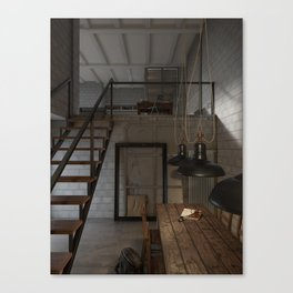 American House Canvas Print