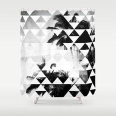 Monochromatic Island Shower Curtain