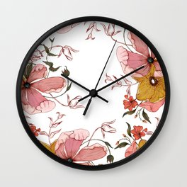 Words that water flowers Wall Clock