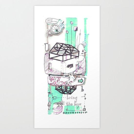 Gone London Art Print