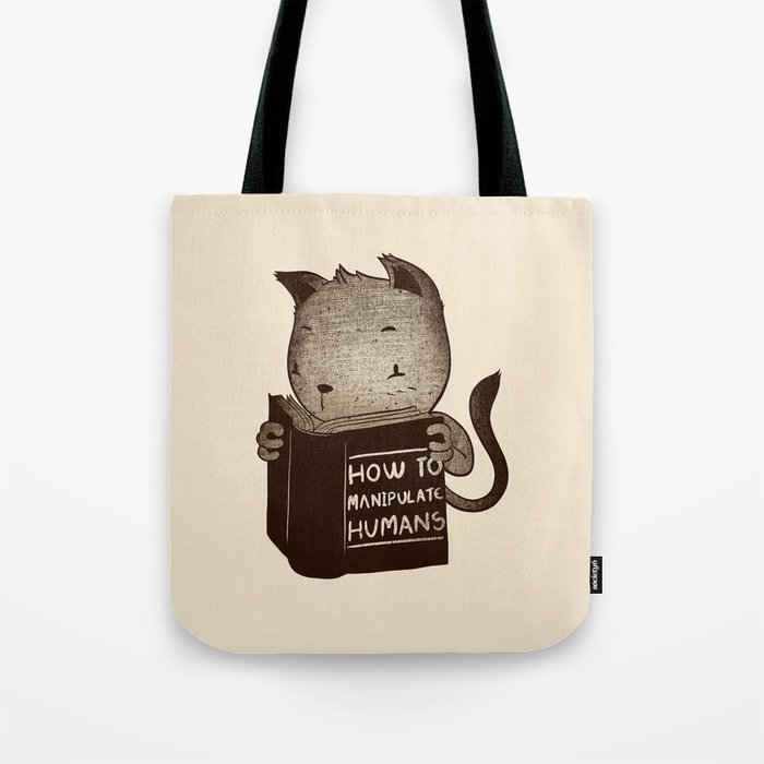 Cat Book How To Manipulate Humans Tote Bag