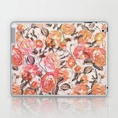 Vintage Floral Watercolor Pattern Laptop & iPad Skin