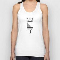 chef Tank Tops featuring Chef by HebeTees
