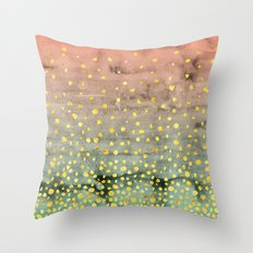 Coral Mint Gradient Throw Pillow