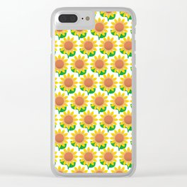 Sunflower Pattern_I Clear iPhone Case