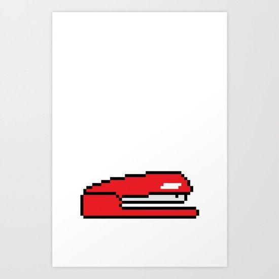Pixel Space Art Print