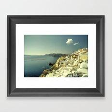 Santorini Seascape Framed Art Print