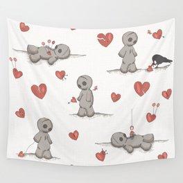 Broken hearted Voodoo Dolls Wall Tapestry