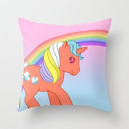 g1 my little pony Speedy Throw Pillow