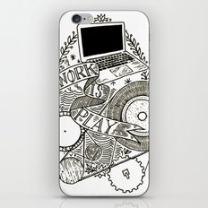 Work is Play iPhone Skin