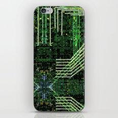 Circuit board very green zoom iPhone & iPod Skin