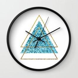 Trippy Triangles Wall Clock