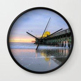 Apache Pier, Myrtle Beach Wall Clock