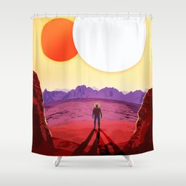 Kepler 16b Shower Curtain