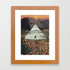 Harmony with flowers Framed Art Print