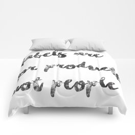 Black on White - Labels Comforters