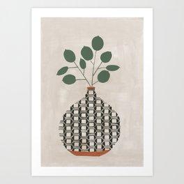 Karten Vase Art Print