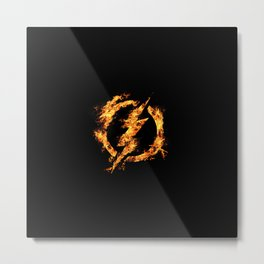 The Fire Flash Metal Print
