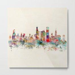chicago illinois skyline Metal Print