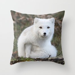 Polar Fox by Anne Elisabeth Throw Pillow