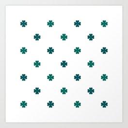 Saint Patrick Shamrock Clove Seamless Pattern Art Print