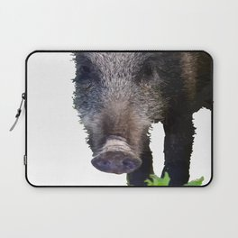 Crazy As A Peach Orchard Boar Vector Laptop Sleeve