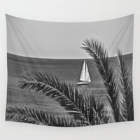 sailing Wall Tapestries featuring Sailing by M. Gold Photography