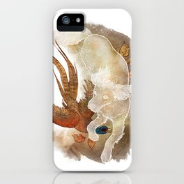 Ghost Dog- Spaniel hunting Pheasant iPhone Case