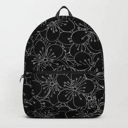 Cherry Blossom Black on White - In Memory of Mackenzie Backpack