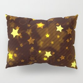 Glitter and Glow Sable and Gold Stars Pillow Sham