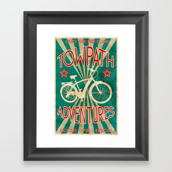 TOWPATH ADVENTURES Framed Art Print