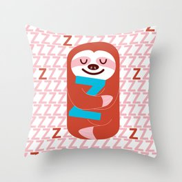 The Slothful One Throw Pillow