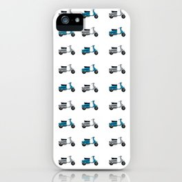 Blue and White Lambretta Pattern iPhone Case