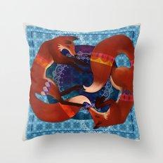 Space Foxes Throw Pillow