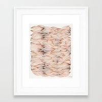 rose gold Framed Art Prints featuring Rose Gold Waves by Cat Coquillette
