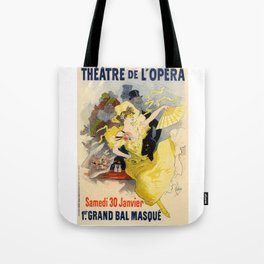 Belle Epoque vintage poster, French Theater, Theatre de L'Opera Tote Bag