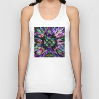 tie dye Tank Tops featuring Colorful Tie Dye Abstract by Phil Perkins