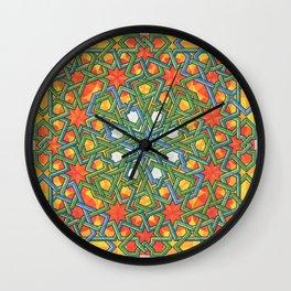 8-Fold Alhambra Pattern Wall Clock