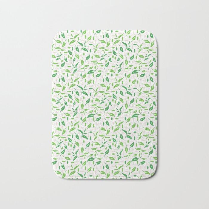 Tea Leaves Pattern Bath Mat