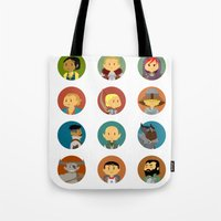 dragon age inquisition Tote Bags featuring Cute Inquisition by Panda