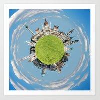 Budapest tiny planet Art Print