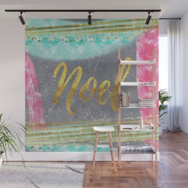 NOEL - Merry modern abstract christmas Wall Mural